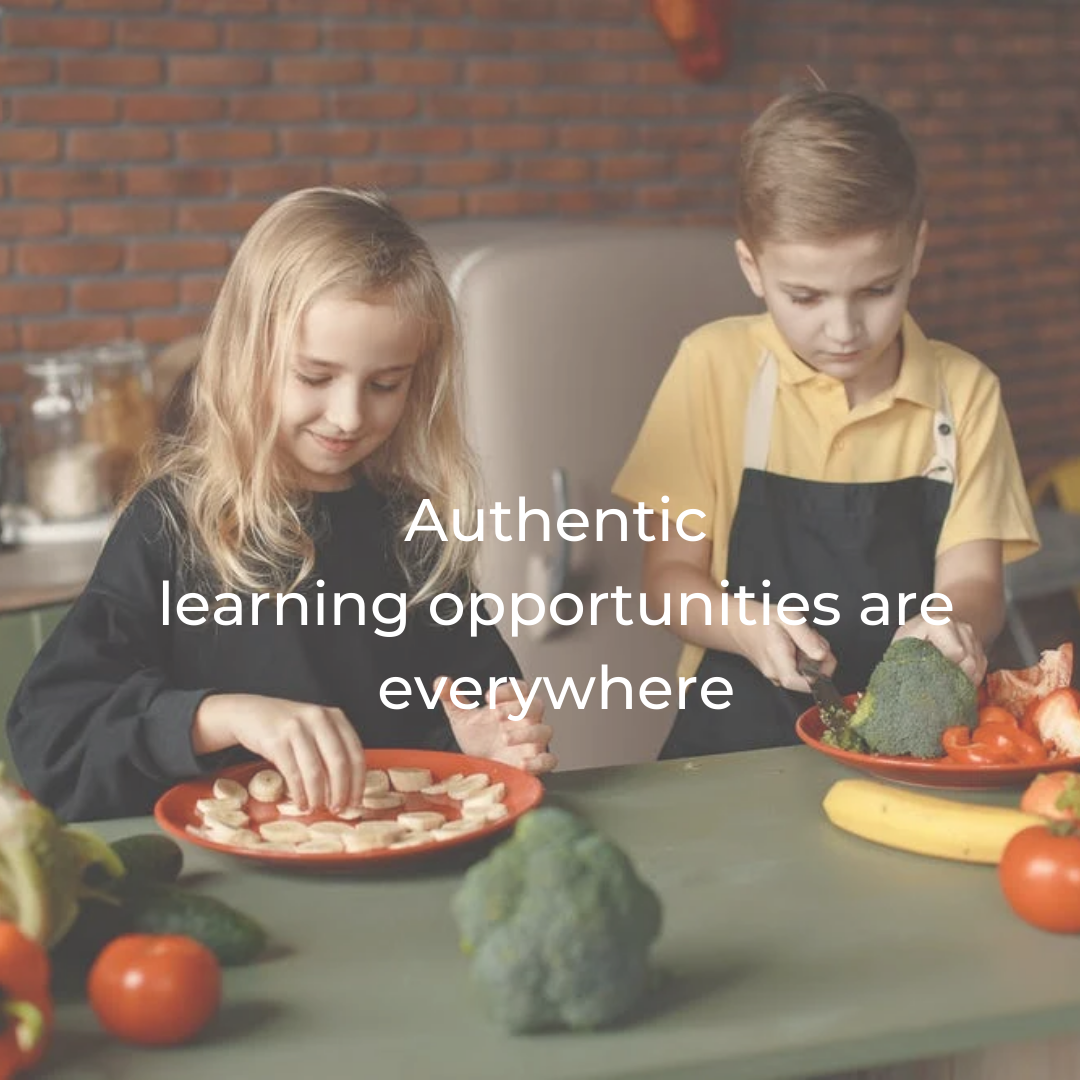 Authentic learning opportunities are everywhere!