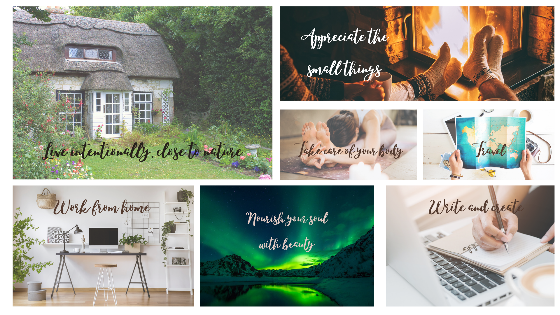 Creating a vision board to realign